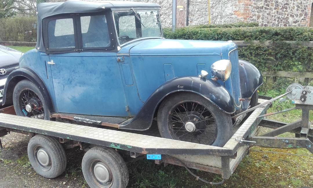 Rare Austin Seven Opal with original 1937 Reg For Sale (picture 3 of 6)