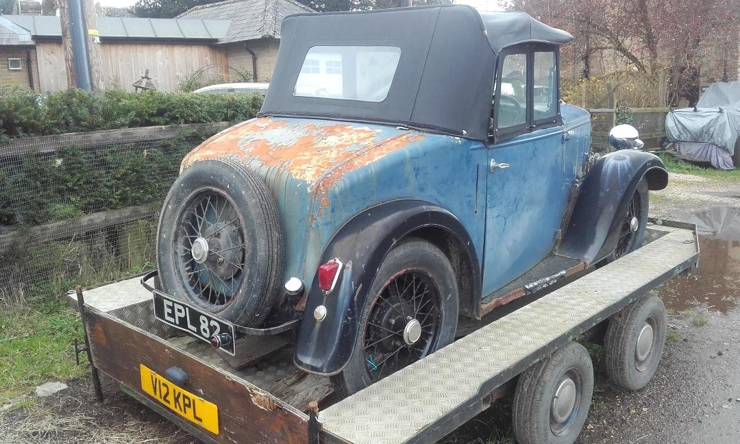 Rare Austin Seven Opal with original 1937 Reg For Sale (picture 4 of 6)