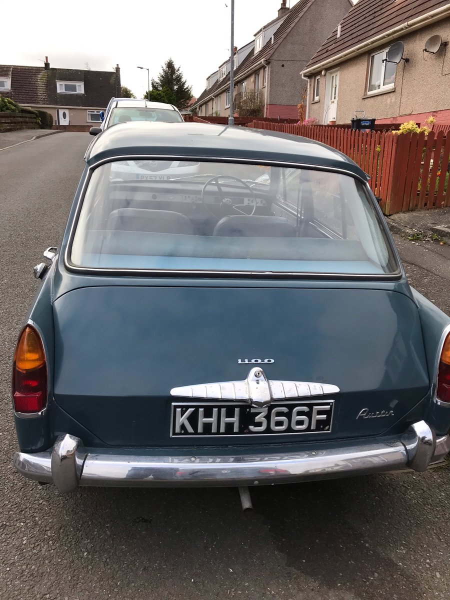1967 AUSTIN 1100 CLASSIC CAR MOT AND TAX EXEMPT For Sale (picture 2 of 6)