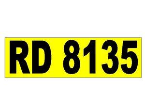 RD 8135 Registration Number