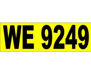 WE 9249 Registration Number
