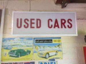 Garage wall sign. Fluorescent