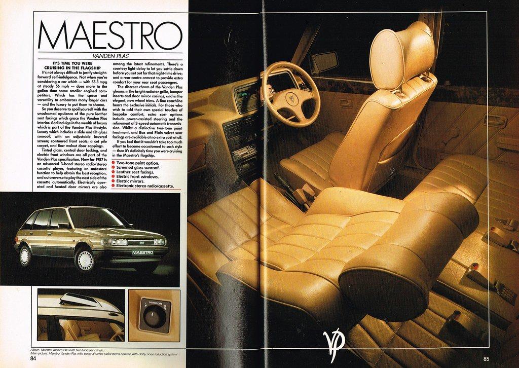 1987 Austin Maestro 1.6 Vanden Plas For Sale (picture 3 of 6)