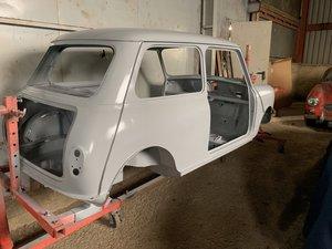 Austin Mini Seven project - ready for paint