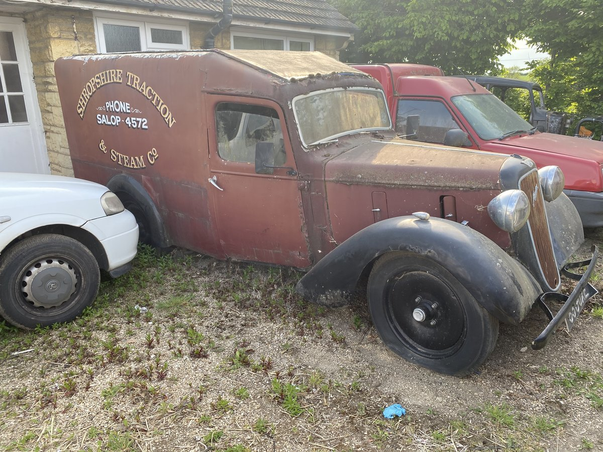 1938 Barn find austin light 12/4  van SOLD (picture 1 of 6)