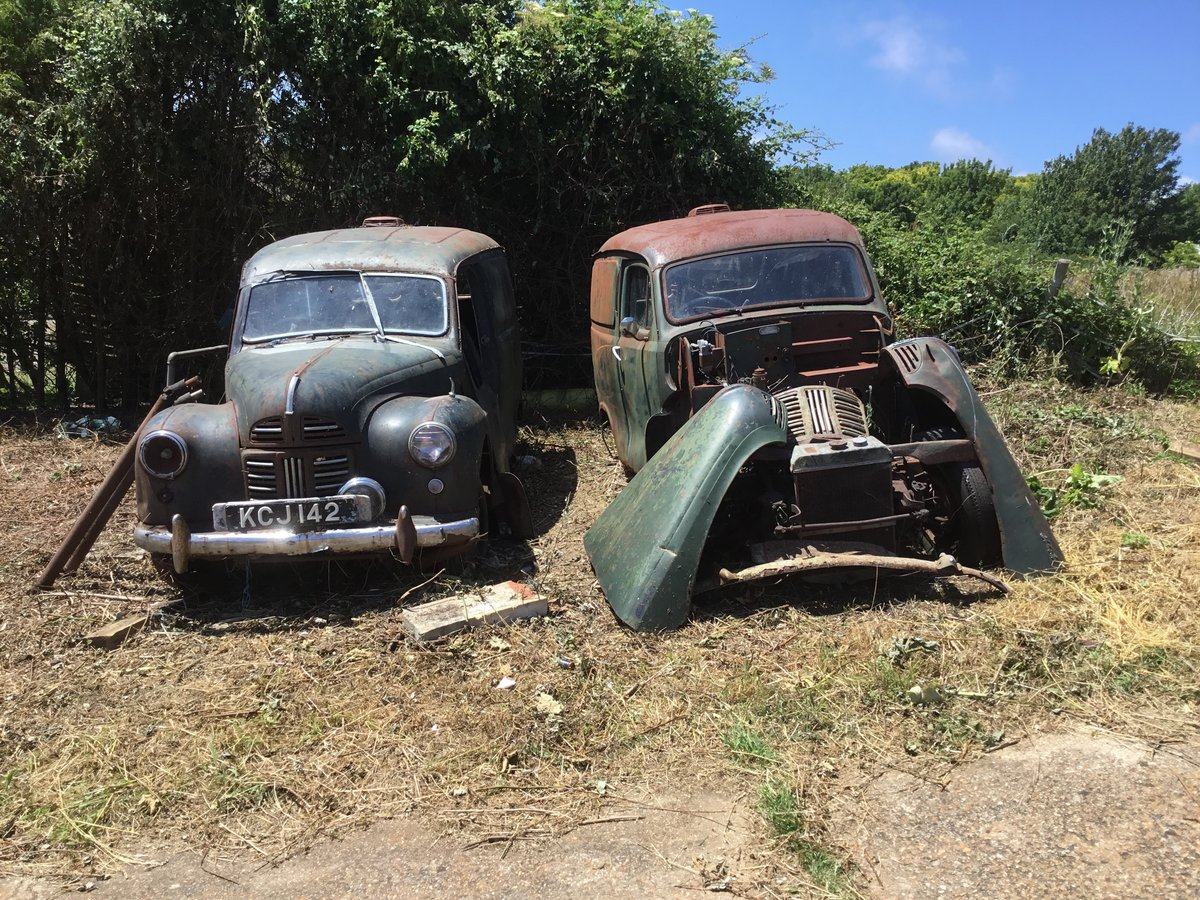 1953 A40 Devon vans x2 restoration projects For Sale (picture 1 of 6)