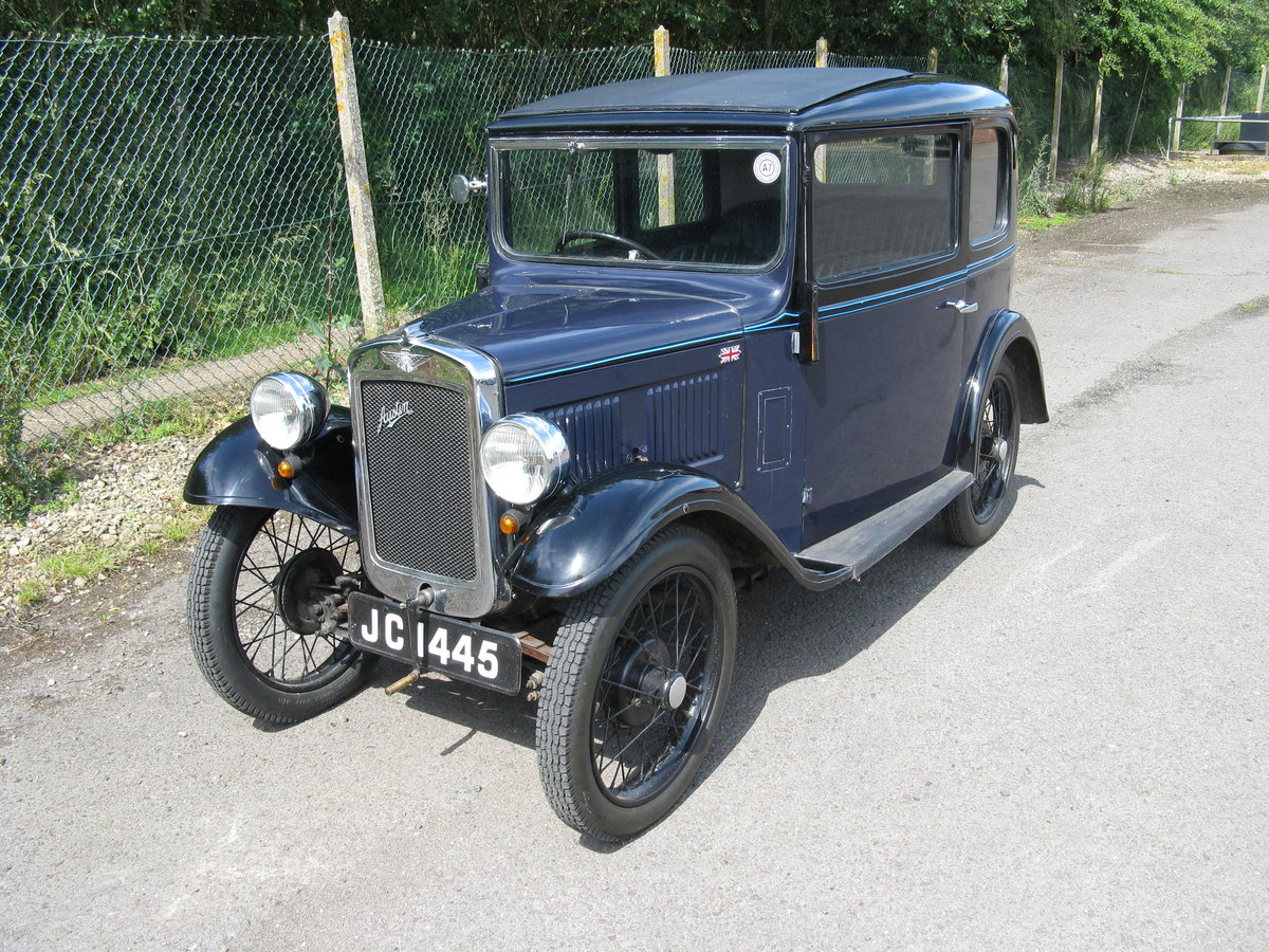 1934 Austin 7 RP Saloon with sunroof SOLD (picture 1 of 6)