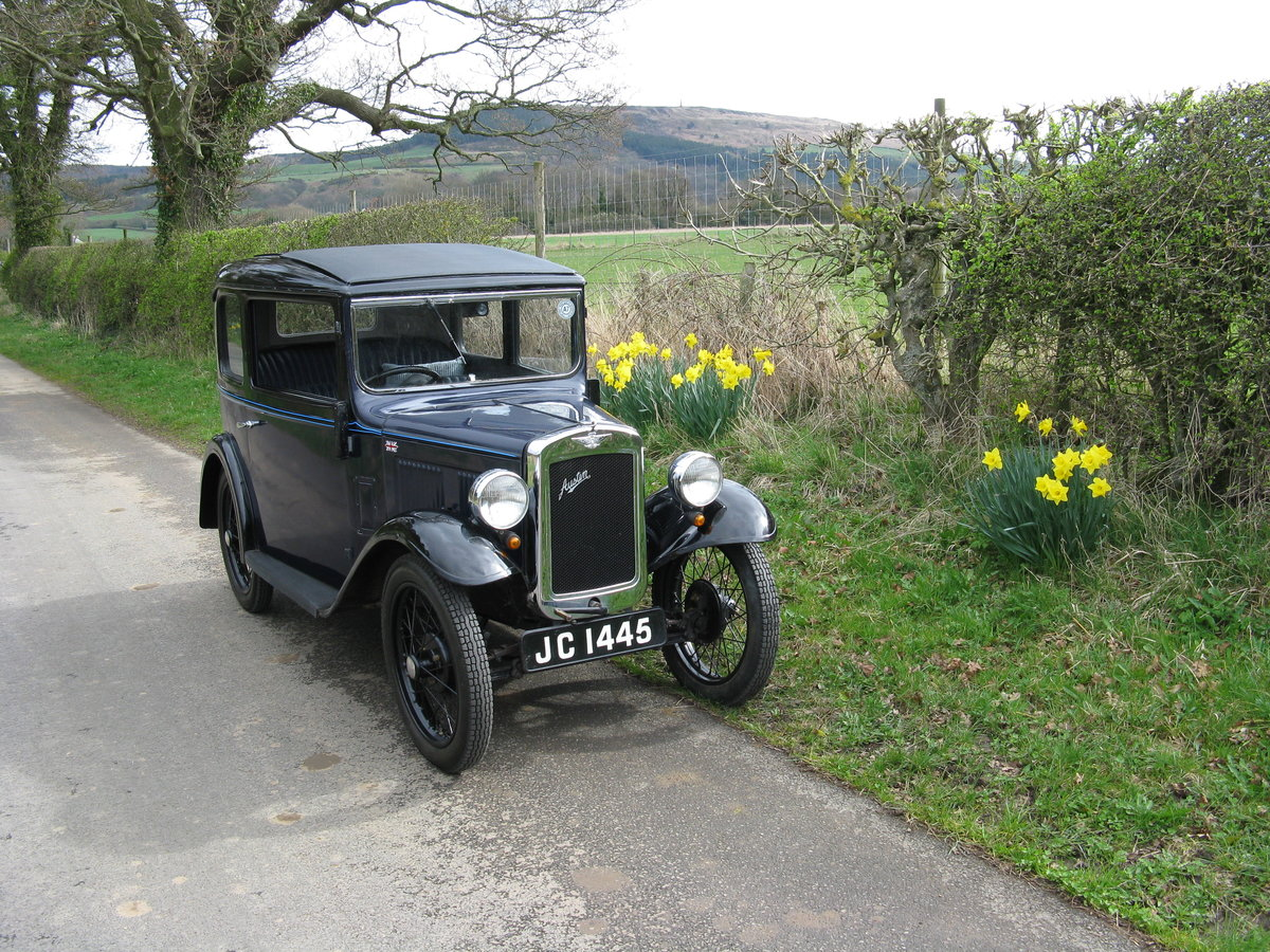 1934 Austin 7 RP Saloon with sunroof SOLD (picture 6 of 6)