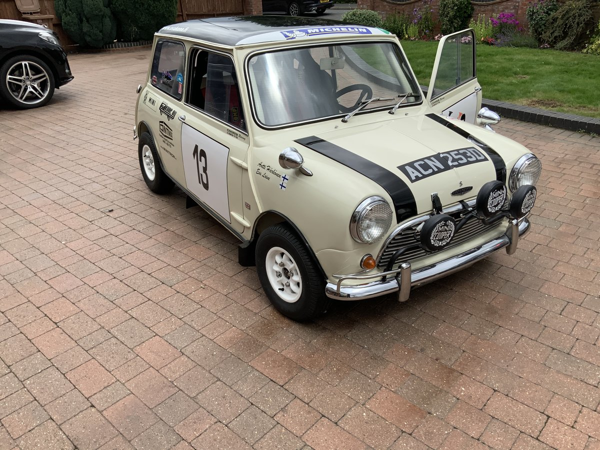 1966  Mark 1 Mini Cooper S FIA rally car 1275 For Sale (picture 1 of 6)