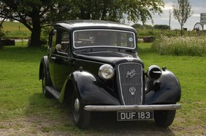 1937 AUSTIN 14/6 GOODWOOD TAX AND MOT EXEMPT