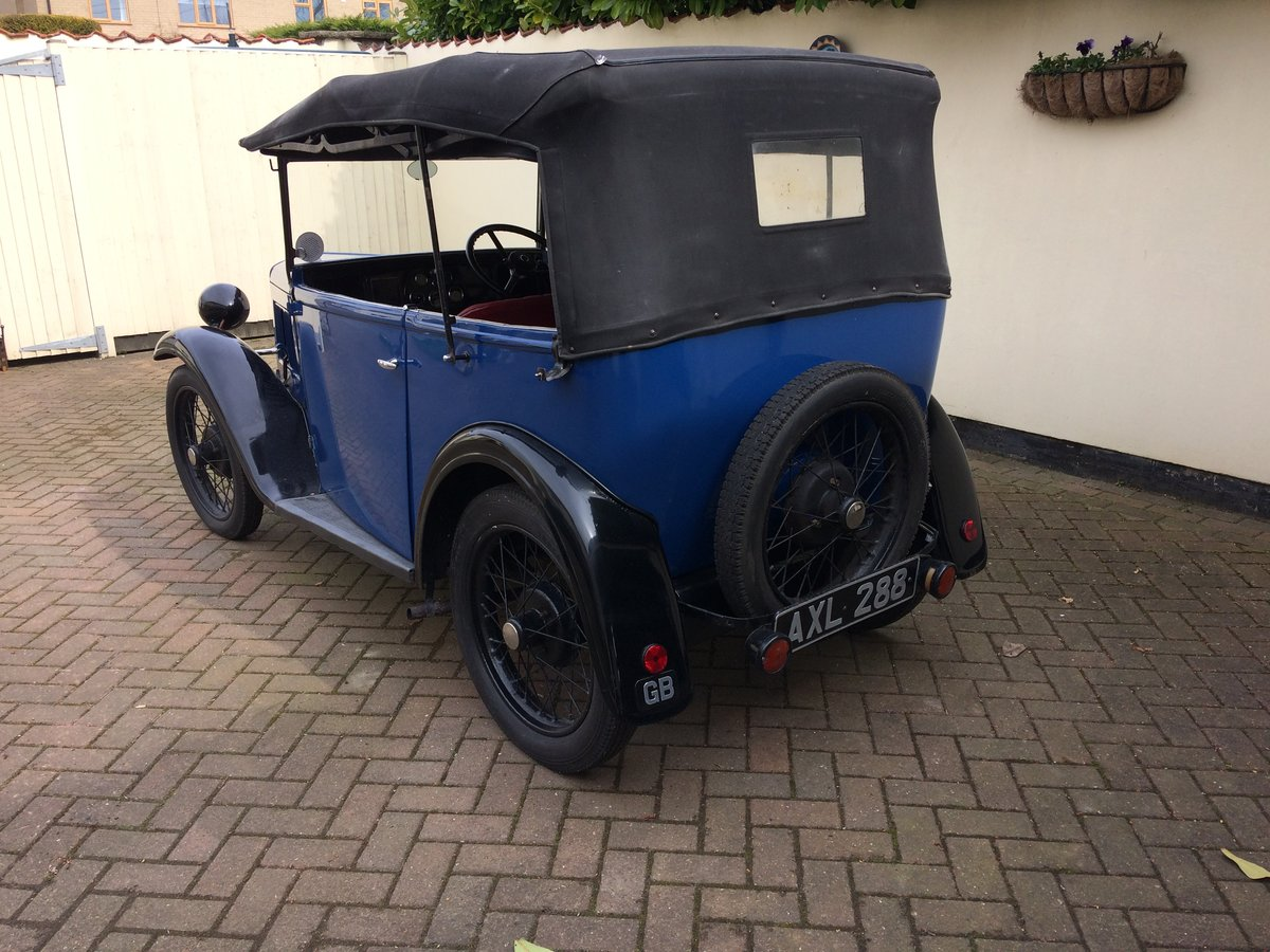 1934 Austin 7 4 seat tourer  For Sale (picture 3 of 5)