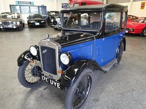 **OCTOBER ENTRY** 1931 Austin 7 RM Saloon             For Sale by Auction