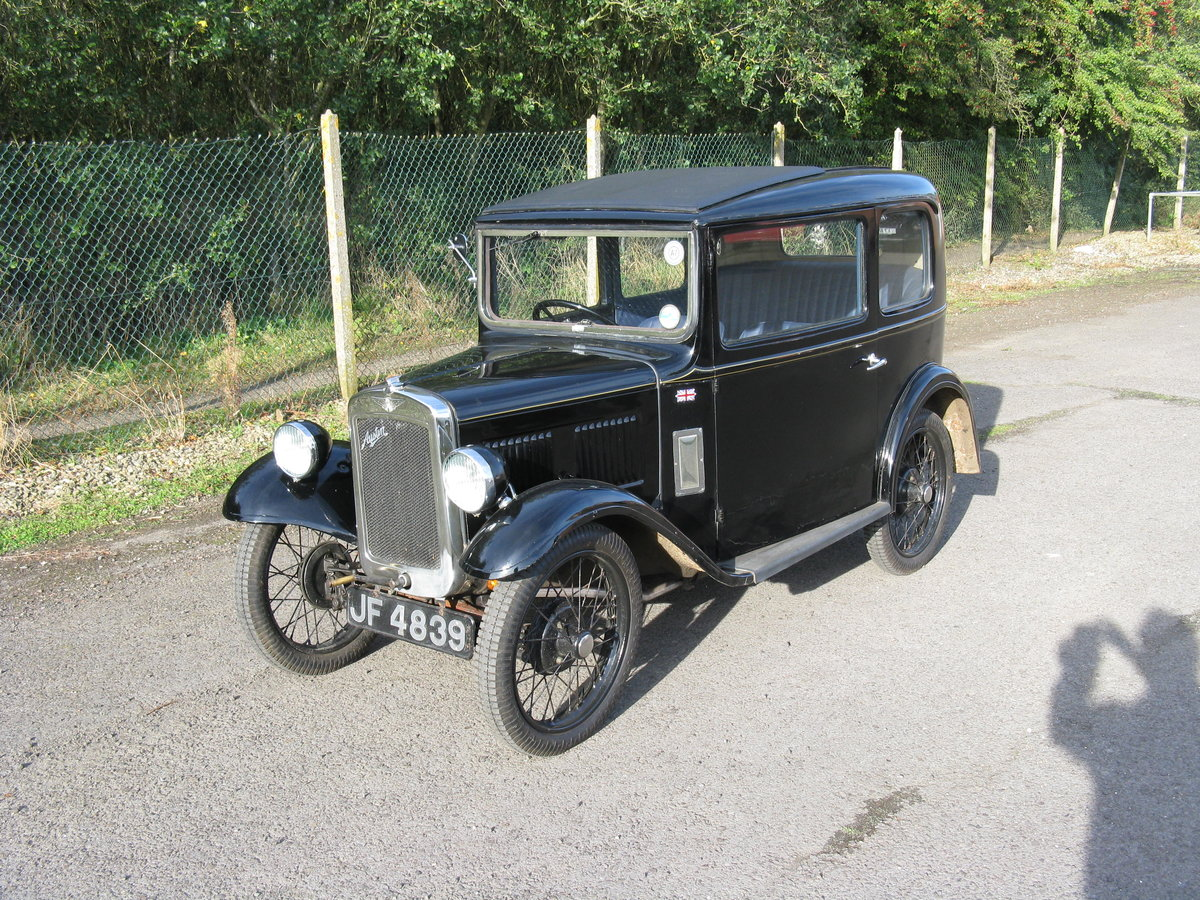 1933 Austin 7 RP Saloon with sunroof For Sale (picture 5 of 6)
