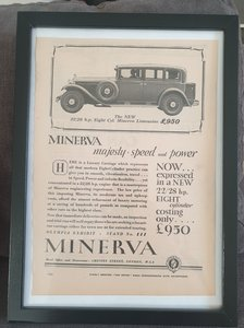 Picture of 1976 Original 1930 Minerva Framed Advert