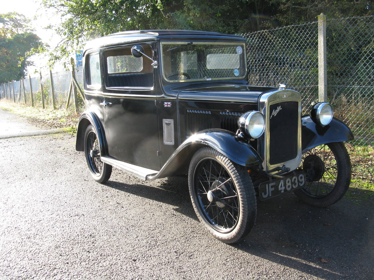 1933 Austin 7 RP Saloon with sunroof For Sale (picture 6 of 6)
