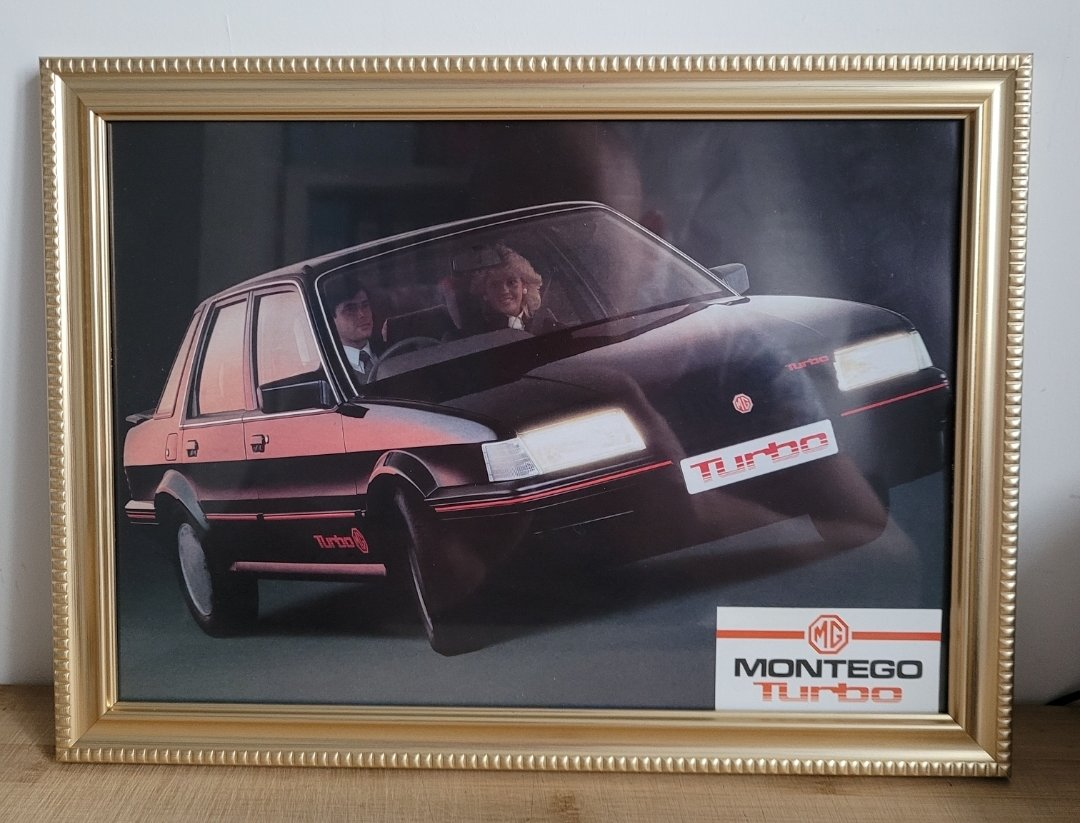 Picture of 1987 Original 1985 Montego Turbo Framed Advert