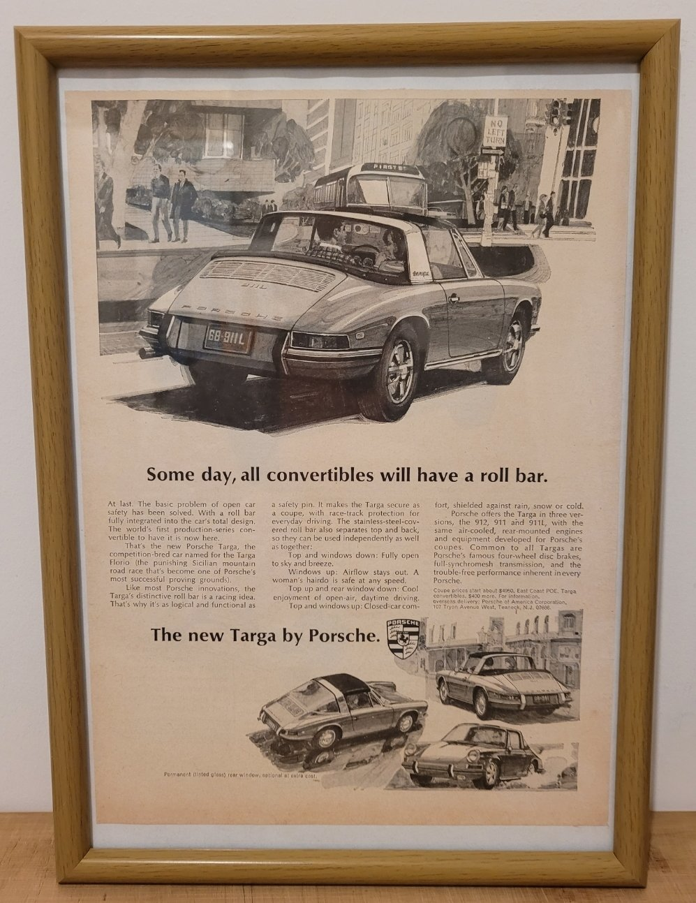 Picture of 1976 Original 1967 Porsche 911 Targa Framed Advert