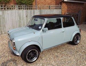 Classic Mini in BMW Ice Blue