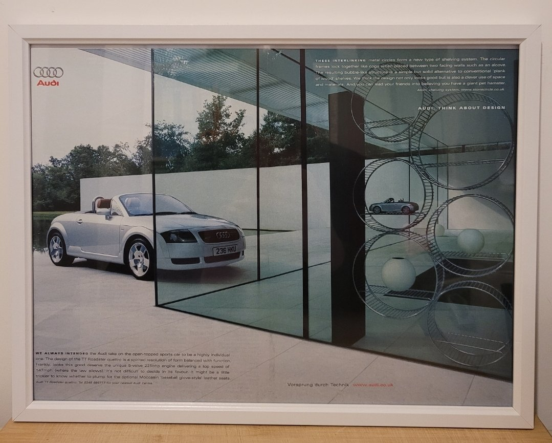 Picture of 1979 Original 2000 Audi TT Quattro Framed Advert For Sale