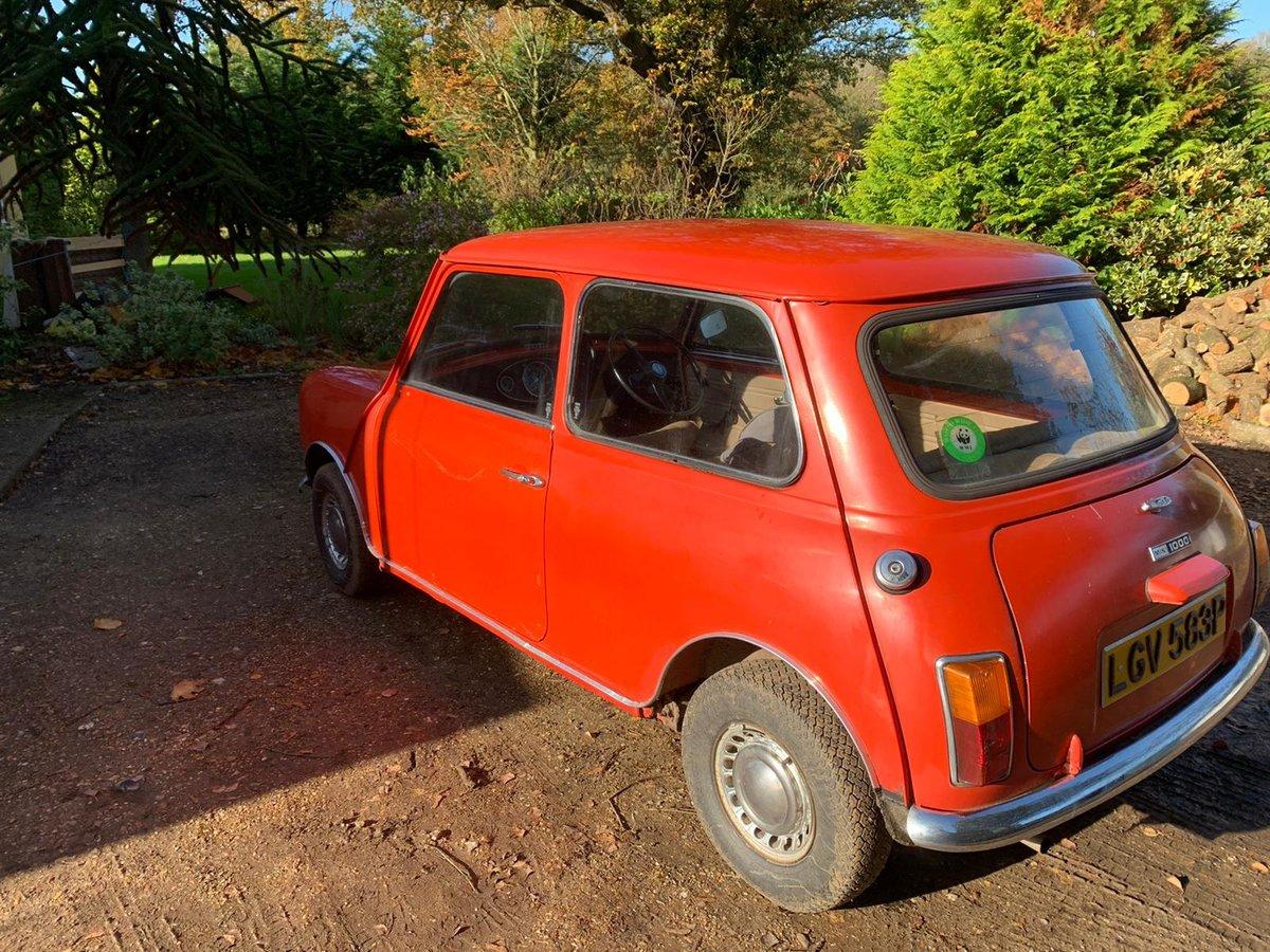 1975 Original Mini 1000 For Sale (picture 1 of 10)