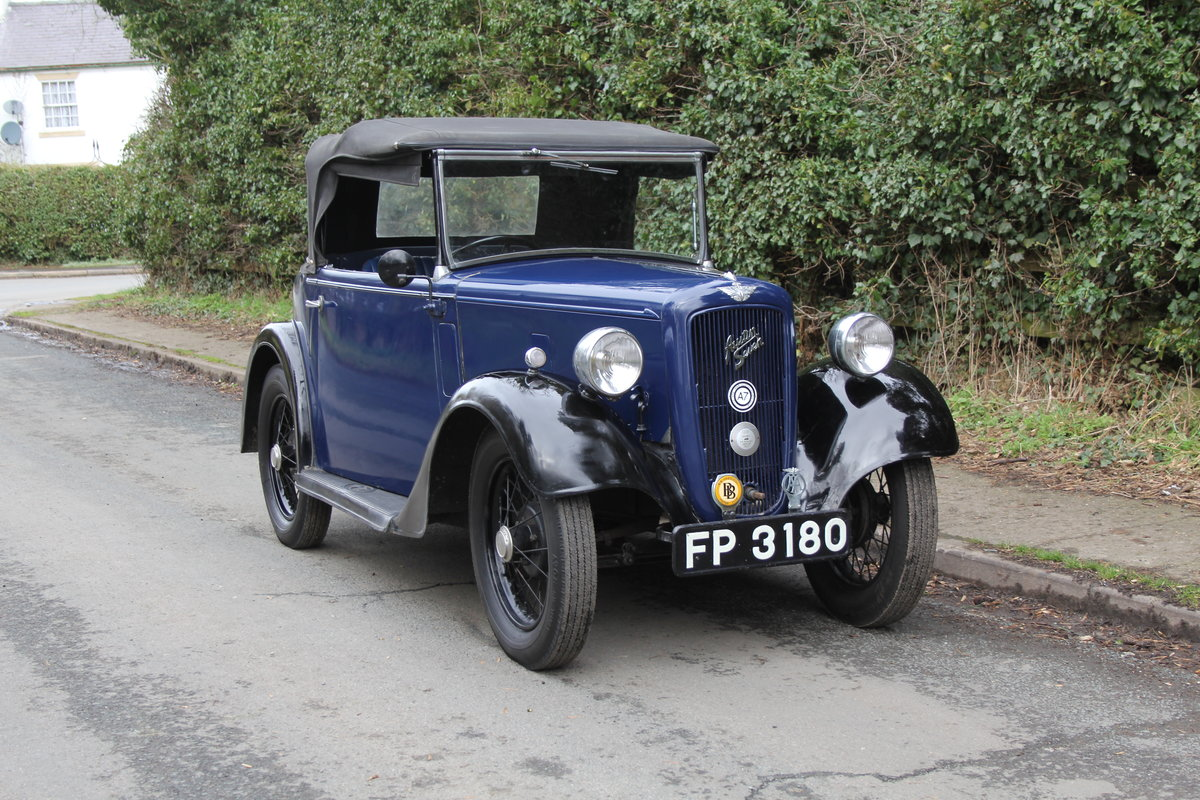 1937 Austin 7 Opal Two Seat Tourer - Very Rare Model For Sale (picture 1 of 16)