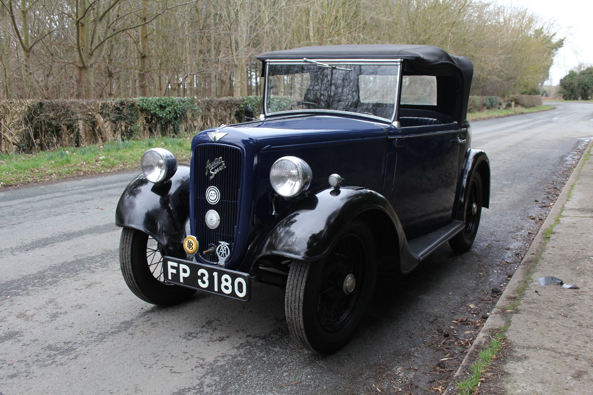 1937 Austin 7 Opal Two Seat Tourer - Very Rare Model For Sale (picture 3 of 16)