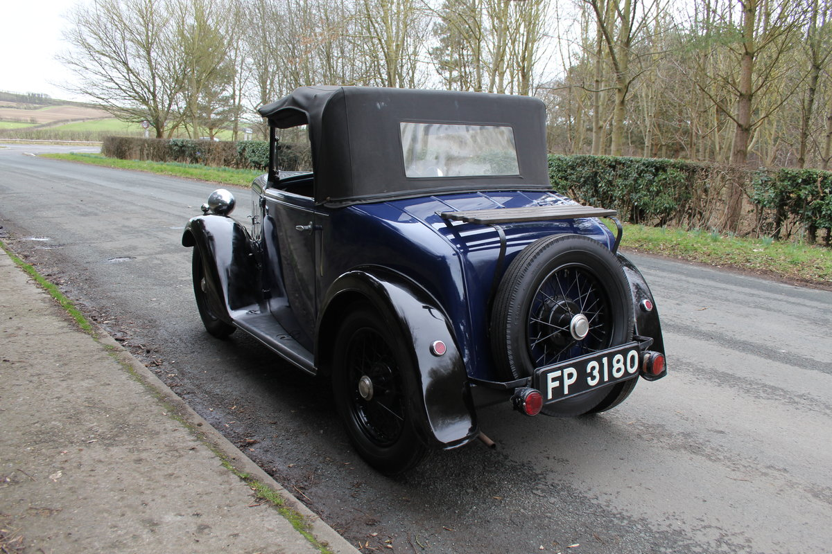 1937 Austin 7 Opal Two Seat Tourer - Very Rare Model For Sale (picture 4 of 16)