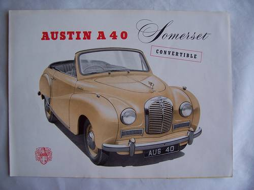1954 AUSTIN A 40 SOMERSET CONVERTIBLE PAMPHLET SOLD (picture 1 of 5)