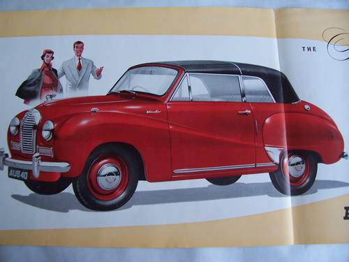 1954 AUSTIN A 40 SOMERSET CONVERTIBLE PAMPHLET SOLD (picture 2 of 5)