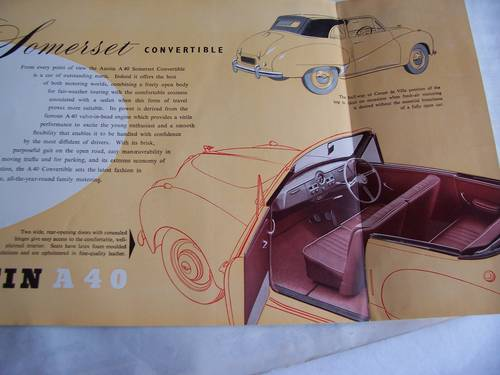 1954 AUSTIN A 40 SOMERSET CONVERTIBLE PAMPHLET SOLD (picture 5 of 5)