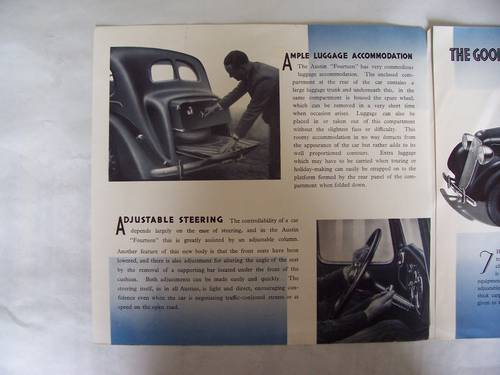 AUSTIN FOURTEEN GOODWOOD 1936 SALES BROCHURE For Sale (picture 2 of 6)