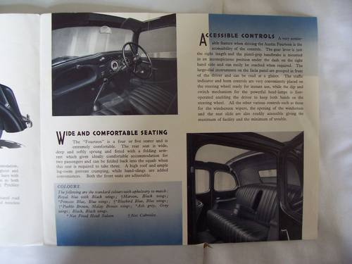 AUSTIN FOURTEEN GOODWOOD 1936 SALES BROCHURE For Sale (picture 5 of 6)