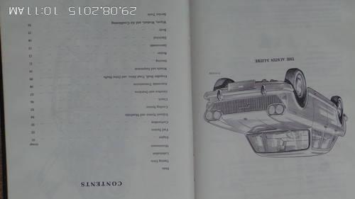 austin 3 litre workshop manual For Sale (picture 1 of 2)