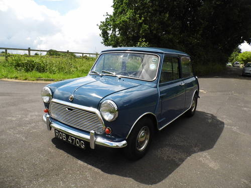 Austin mini saloon 1969 in Island blue ROB  For Sale (picture 1 of 6)