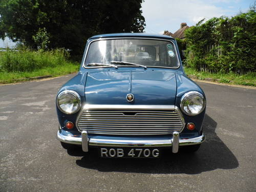 Austin mini saloon 1969 in Island blue ROB  For Sale (picture 2 of 6)