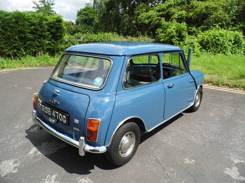 Austin mini saloon 1969 in Island blue ROB  For Sale (picture 4 of 6)