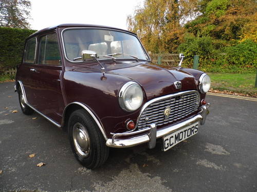 Austin Mini saloon 1965 in Maroon superb For Sale (picture 1 of 6)