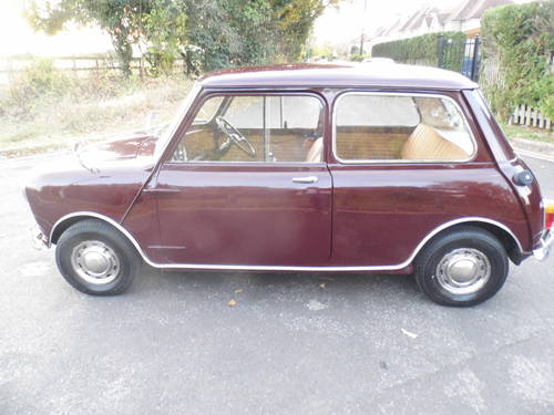 Austin Mini saloon 1965 in Maroon superb For Sale (picture 3 of 6)