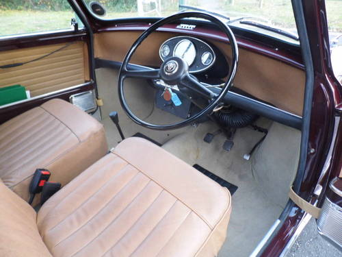 Austin Mini saloon 1965 in Maroon superb For Sale (picture 5 of 6)