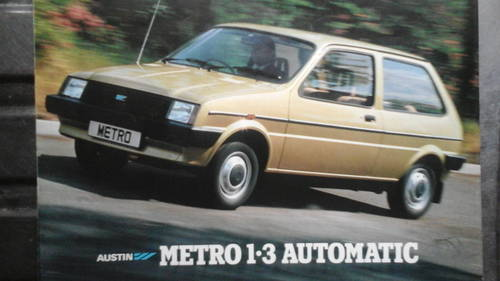1987 Very Low milage Super Mini. Metro 1275cc A + serie For Sale (picture 2 of 6)