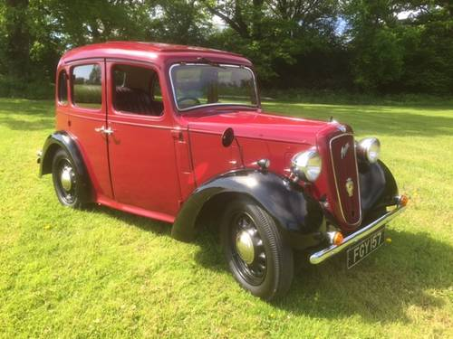 1938 Austin Big Seven Sixlite for sale in Hampshire... SOLD (picture 2 of 6)