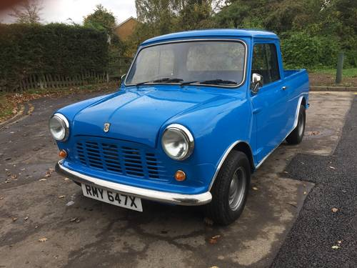 Austin/Morris Mini Pickup 1981 X reg in Pageant blue  For Sale (picture 2 of 6)