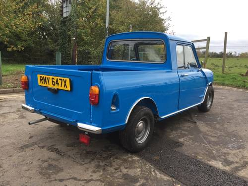 Austin/Morris Mini Pickup 1981 X reg in Pageant blue  For Sale (picture 4 of 6)