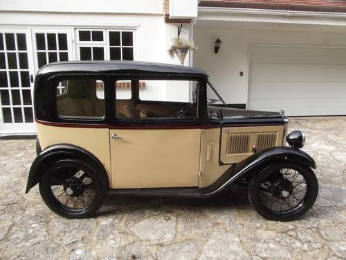 1933 AUSTIN SEVEN RP BOX LWB SALOON SOLD (picture 3 of 6)