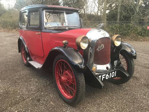1929 Austin 7 Swallow Saloon, original with matching numbers SOLD (picture 1 of 6)