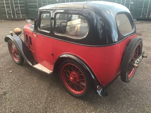 1929 Austin 7 Swallow Saloon, original with matching numbers SOLD (picture 2 of 6)
