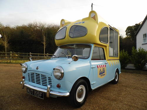Austin Mini Ice cream van 1000 1967 tax exempt Very Clean For Sale (picture 1 of 6)