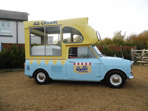 Austin Mini Ice cream van 1000 1967 tax exempt Very Clean For Sale (picture 2 of 6)