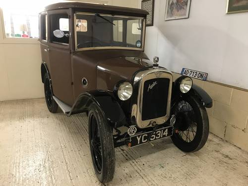 1929 Austin 7 Mulliner Fabric Saloon SOLD (picture 1 of 6)