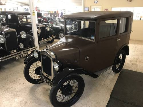 1929 Austin 7 Mulliner Fabric Saloon SOLD (picture 5 of 6)